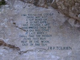 Tolkien Quote Carved by xonexlastxteardropx