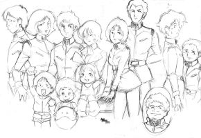 gundam cast by childings