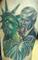 Bush sucking on lady liberty by filthmg