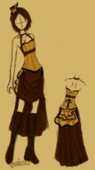 Steampunk Outfit Concept 02 by evalesco5