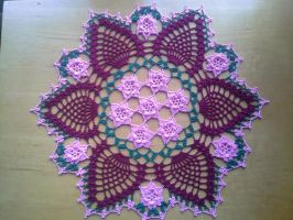 Rose Garden Doily by koepr5333