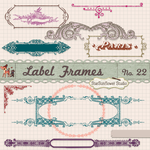 Free Vintage Border Frames Brushes Vectors Clipart by starsunflowerstudio