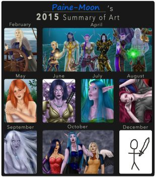 2015 Summary of Art by Paine-Moon