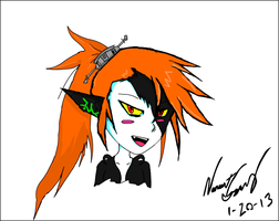 Midna Flash Drawing by DeathlyXpecter