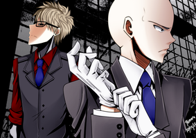 One Punch Man: Mans in modern armor by rairy