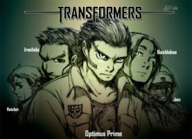 Transformers human simulated by Rcaptain