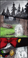 Silent Splendorman Comic -page one- by Cageyshick05