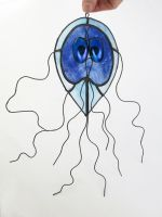 Giardia lamblia Stained Glass Suncatcher 2 by trilobiteglassworks