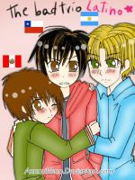 The bad friends trio LATINO 8D by Azumikkun