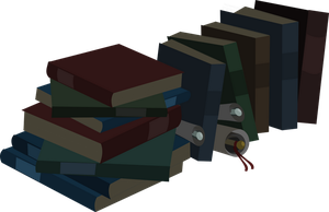 have a pile of books by matty4z
