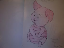 Baby Piglet: Colored by Shippudenpro28