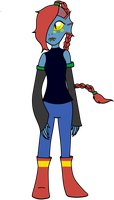 [CorruptionFile.UT] Undyne [AU Reference] by RicePoison