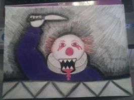 scary clown by iloveleviwilson