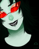 Terezi With Glasses by nikkoyuyu