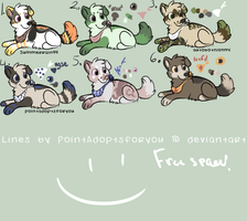 Puppy adopts :closed: by Polkadoptables