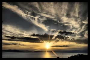 Halkidiki sunset by kamykaldo
