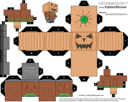 Cubee - Pumpkin Man by CyberDrone