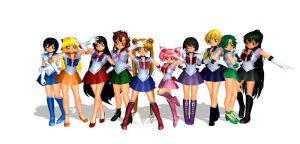 MMD Sailor Scouts by GingerbreadTigers