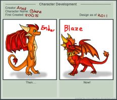 The Evolution of Blaze by Dragon-In-A-Blue-Box