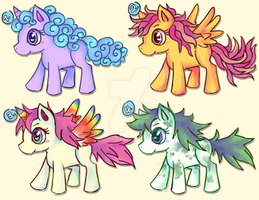 Adoptable Ponies by melonycreations