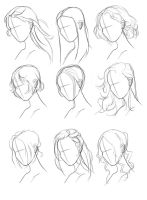 Hair Ref Set by GlitterBrushArt