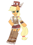Steampunk Applejack by Noah-Nyan