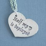 Half my heart is deployed - Necklace by foowahu-etsy