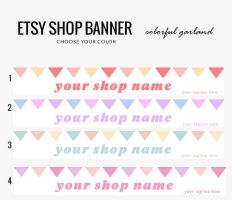Etsy Banner- Garlands by candypow