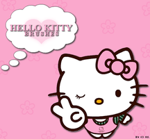 Hello Kitty Brushes by xRainbowScribblex