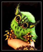 -SOLD-Posable Kiwi Owlet by Wood-Splitter-Lee