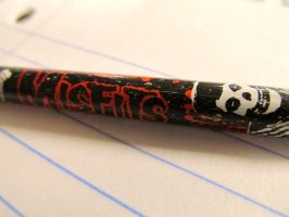 Misfit pencil by badasszombie