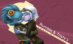 League Of Legends - Rumble and Tristy by Nestkeeper