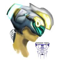 Helmet Drawing - Colored by SpiderTech