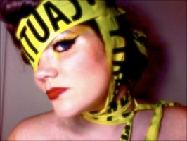 Lady Gaga Caution Tape 13 by TimeLordmk