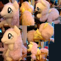 LifeSize Fluttershy plushie by LilWolfStudios