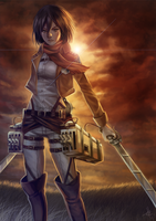 more Mikasa Ackerman by Fluffmoth