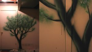 Tree mural by IvoryDrive