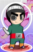Chibi Rock Lee, lotus version by ProffessorZolo