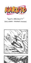 Naruto Doujinshi - Guy's Speciality by SmartChocoBear