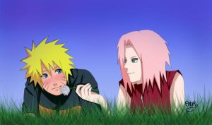 NaruSaku- Blue Skies by Chloeeh