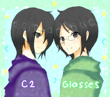 C2 and Glasses by namiirin