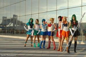 Group Sailor by DollMartyCosplay