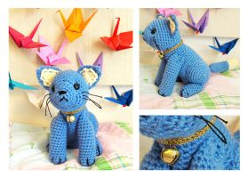 Blue Kitty Amigurumi by Sparrow-dream
