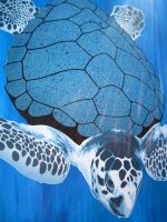 Sea Turtle Painting by Gcrackle1