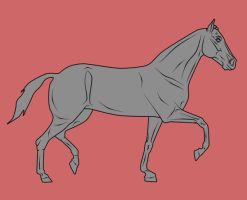 Trotting Animation -FOR SALE by WB-Equine-Art