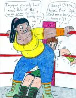 Wrestling Leshawna vs Ben Tennyson by Jose-Ramiro