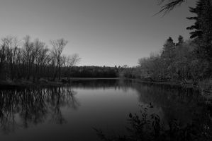 Black and White Landscape. by kawaiilove