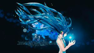 Wallpaper: Vocaloid - Hatsune Miku by Panelletdelimon