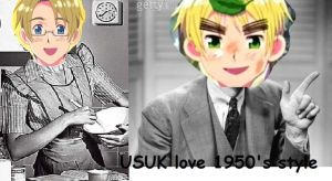 USUK love 50's style by lovely-blood-rose