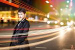 Light Trails - Modern Day Audrey Hepburn by AndyWana